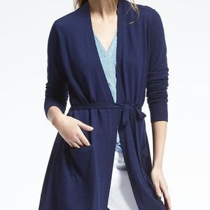 BANANA REPUBLIC merino wool belted cardigan